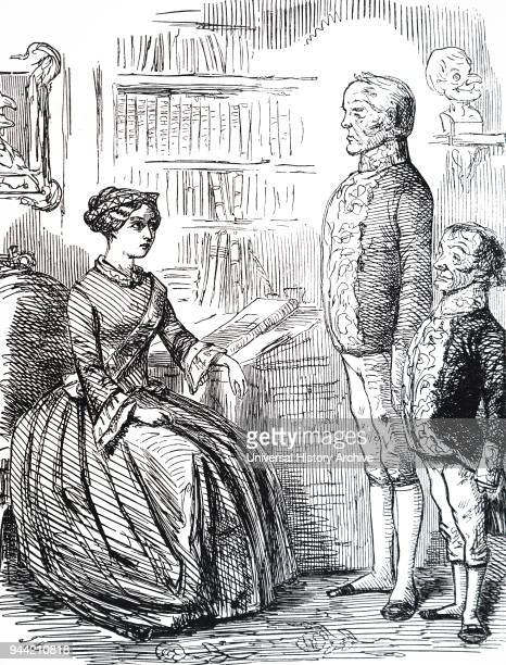Cartoon depicting Henry John Temple 3rd Viscount Palmerston handing Queen Victoria his resignation Palmerston was forced to resign on the grounds...