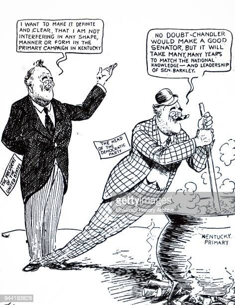 Cartoon depicting Roosevelt tinkering with the United States currency Franklin D Roosevelt an American statesman and political leader who served as...