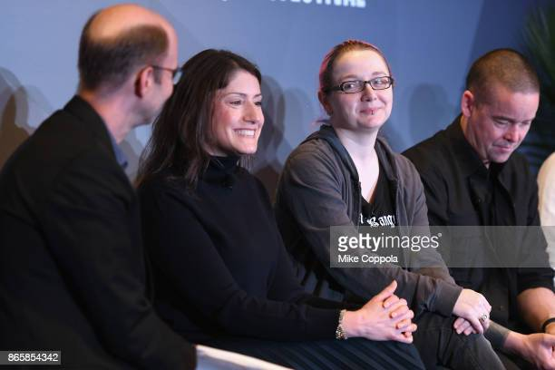 Cartoon Network President Christina Miller Adafruit Founder and Engineer Limor Fried and Minecraft Creative Director Saxs Persson speak onstage...