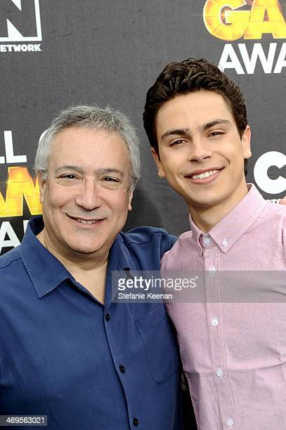 Cartoon Network President/COO Stuart Snyder and actor Jake T Austin attend Cartoon Network's fourth annual Hall of Game Awards at Barker Hangar on...