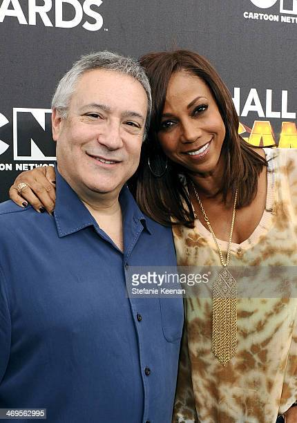 Cartoon Network President/COO Stuart Snyder and actress Holly Robinson Peete attend Cartoon Network's fourth annual Hall of Game Awards at Barker...