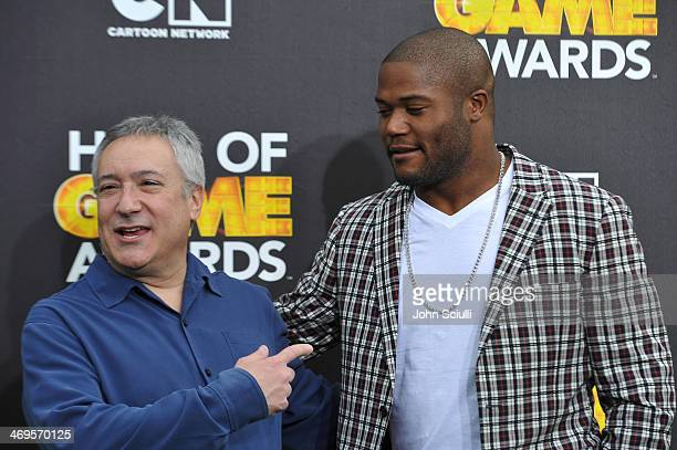 Cartoon Network President/COO Stuart Snyder and NFL player Michael Robinson of the Seattle Seahawks attend Cartoon Network's fourth annual Hall of...