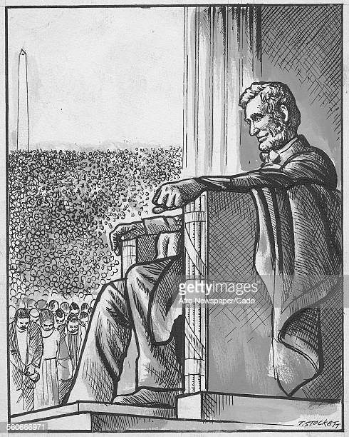 Cartoon of Abraham Lincoln 1970