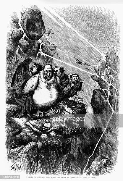 Cartoon of Boss Tweed and his associates at Tammany Hall pictured as vultures The cartoons of Thomas nast were integral in the eventual downfall of...