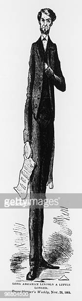 Cartoon of President Abraham Lincoln November 26 1864
