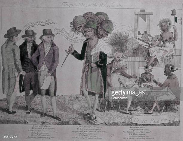 Cartoon satirising 'The XYZ Affair' between France and the United States that lead to the Quasi War with caption 'Cinquetetes Or The Paris Monster'...