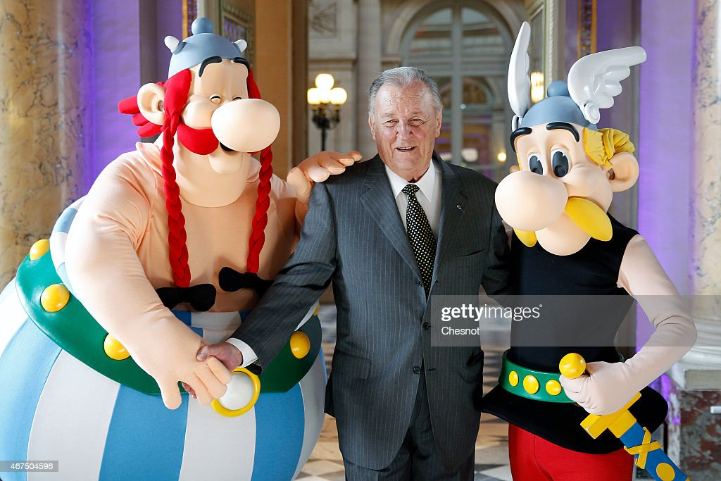 'Asterix And The Values Of The Republic':New Series Of 12 Coins Illustrated With Asterix Designs Presented At Monnaie De Paris : News Photo