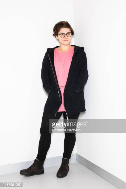Cartoonist Cristina Portolano poses during the Bookcity Milan 2019 on November 15 2019 in Milan Italy