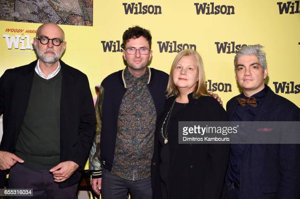 Cartoonist Daniel Clowes Director Craig Johnson Producers Mary Jane Skalski and Jared Goldman attend the 'Wilson' New York Screening at the Whitby...