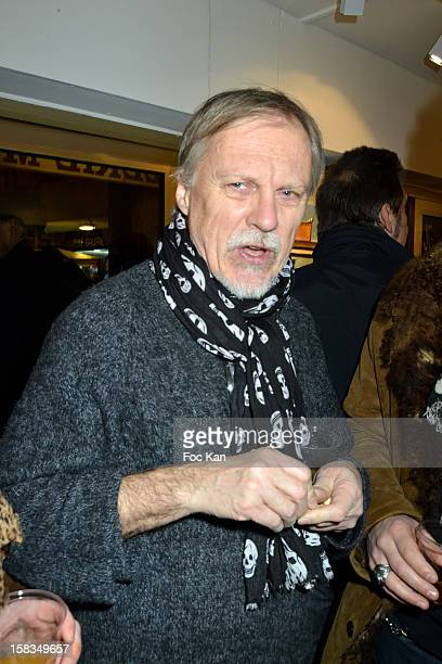 Cartoonist Franck Margerin attends the 'Amerique Instantanes' Laurent Hubert Painting Exhibition Preview at Galerie Myriane on December 13 2012 in...