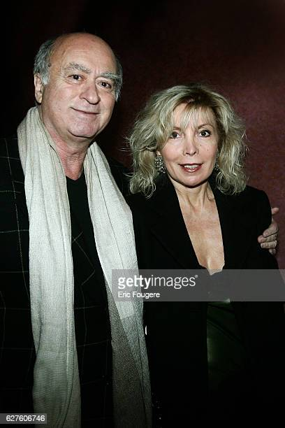 Cartoonist Georges Wolinski and his wife Maryse attend the 'Moon in Black Party' held at Castel restaurant in Paris