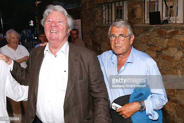 Cartoonist JeanJacques Sempe and Artistic Director of the Festival Michel Boujenah attend Concert of Juliette Greco at 29th Ramatuelle Festival Day 8...