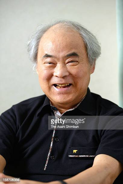 Cartoonist Keiji Nakazawa speaks during the Asahi Shimbun interview on July 4 2012 in Hiroshima Japan His representative work 'HadashiNoGen ' based...