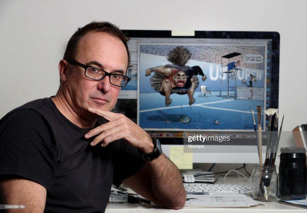 Cartoonist Mark Knight Portrait Shoot