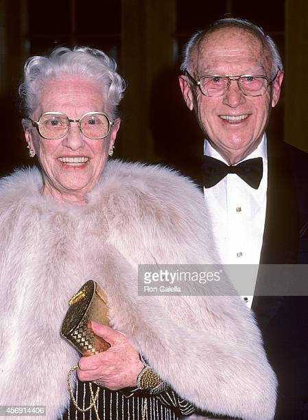 Cartoonist Walter Lantz and wife Grace Stafford attend the 13th Annual American Film Institute Lifetime Achievement Award Salute to Gene Kelly on...