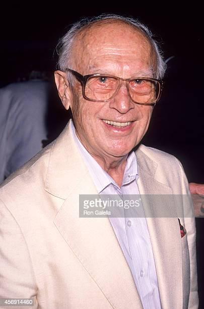 Cartoonist Walter Lantz attends Universal Studios Florida Grand Opening Celebration - Private Kick-Off Party on June 6, 1990 at Hyatt Regency Grand...