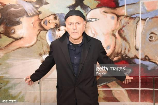 Cartoonist/director Enki Bilal attends Tapestry Catry by Enki Bilal Press Preview on October 5 2017 in Paris France
