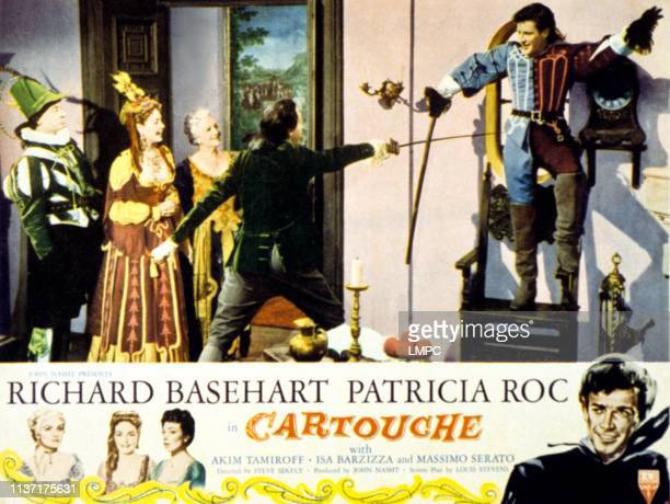 Patricia Roc far right Richard Basehart on lobbycard 1954