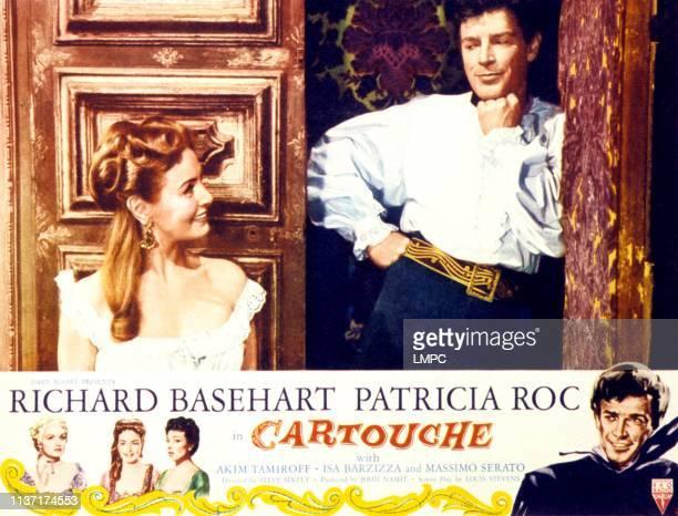Patricia Roc Richard Basehart on lobbycard 1954