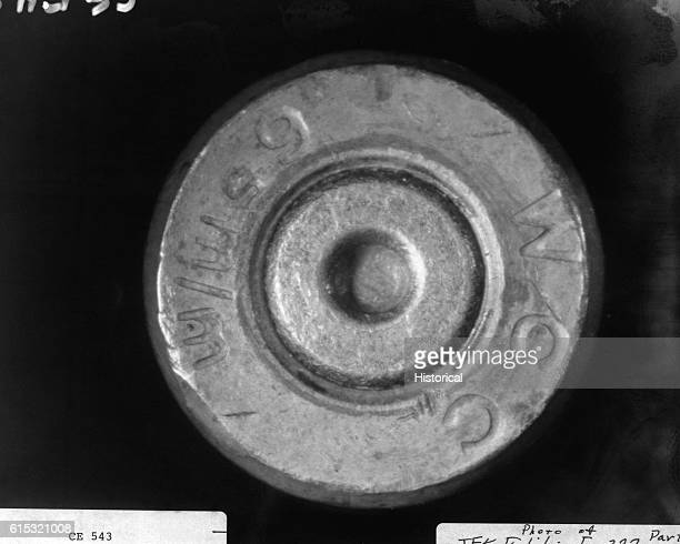 Cartridge case found on 6th floor of the Texas School Book Depository after the assassination of President John F Kennedy Included as an exhibit for...