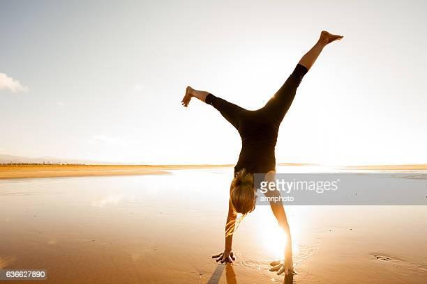 cartwheel sunset beach