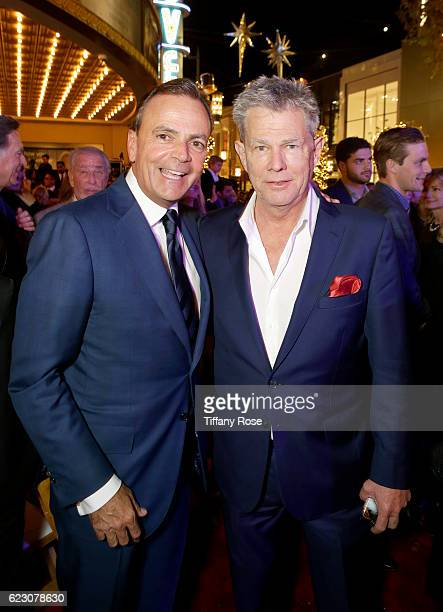 Caruso Affiliated Founder and CEO Rick Caruso and producer David Foster attend The Grove Christmas with Seth MacFarlane presented by Citi at The...