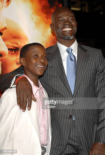 Caruso Kuypers and Djimon Hounsou during 'Blood Diamond' Los Angeles Premiere Red Carpet at Grauman's Chinese Theater in Los Angeles California...