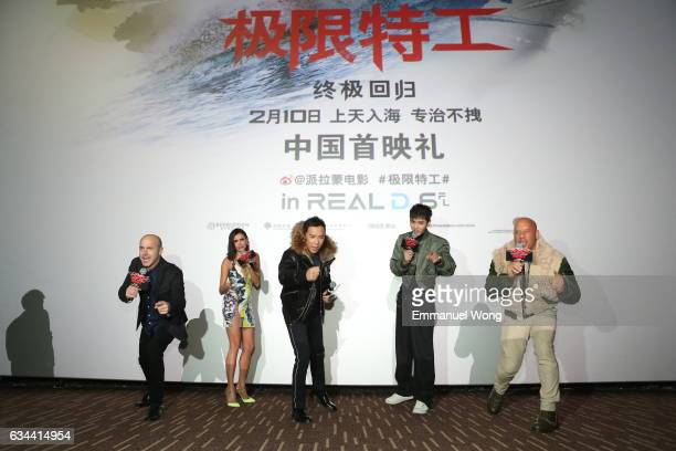 Caruso Nina DobrevDonnie YenVin DieselKris Wu attend a screening of the Paramount Pictures title 'xXx Return of Xander Cage' at Wanda Theatre CBD on...