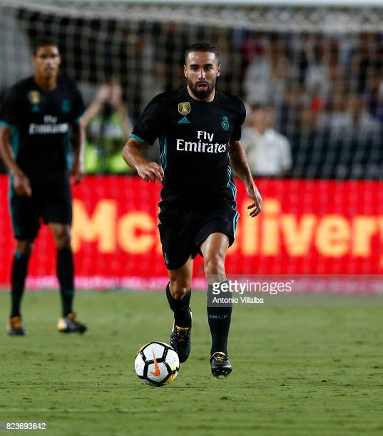 Carvajal of Real Madrid during a match against Manchester City during the International Champions Cup soccer match at Los Angeles Memorial Coliseum...