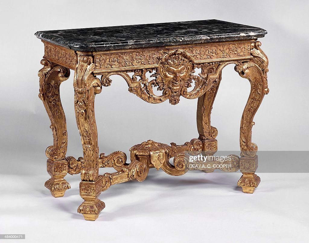 Carved and gilt console table Pictures Getty Images