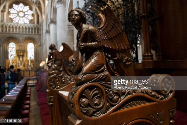 carved decoration inside church - sculpture stock pictures, royalty-free photos & images
