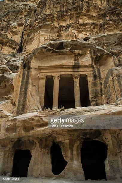 Carved facade in Little Petra