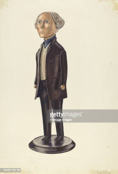 Carved Figure , circa 1937. Artist Frank McEntee.