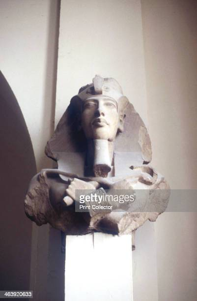 Carved head of king Akhenaten Ancient Egyptian 18th Dynasty c1353c1334 BC After he ascended to the throne in c1353 BC Akhenaten set about...
