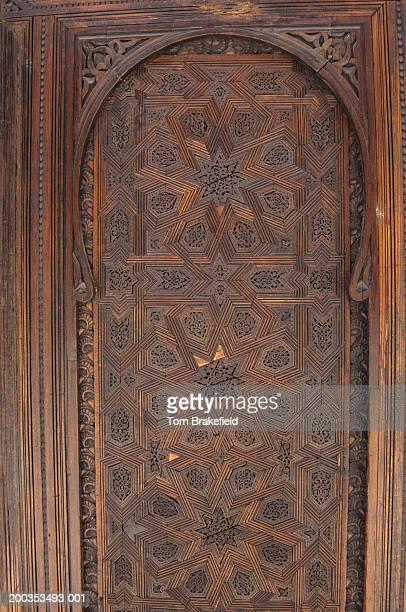 Carved modern screen, Bou Inania Medersa, Fez, Morocco