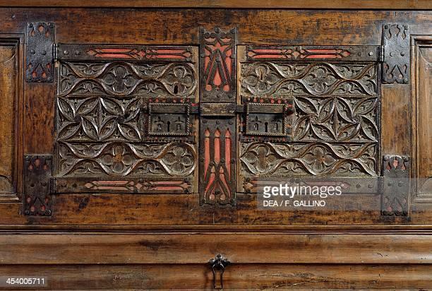 Carved panels from a walnut Piedmont cabinet Casa Cavassa Saluzzo Piedmont Italy 16th century Saluzzo Museo Civico Di Casa Cavassa