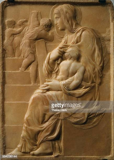 Carved when the artist was 16 years old|Medium Carved marble|Dimensions 555 x 40 cm|Creation date 14901492|Located in Casa Buonarroti Florence Italy