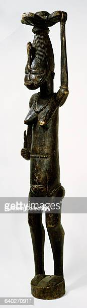 Carved Wood Female Figure from Senufo Tribe