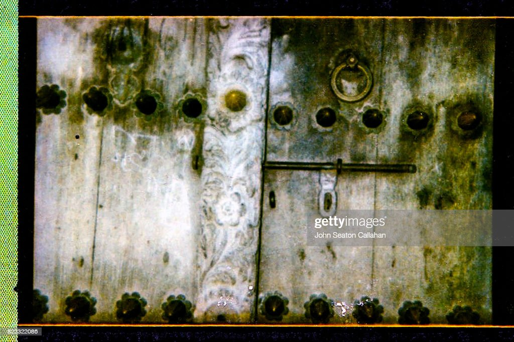 Carved Wooden Door in Stone Town : Stock Photo