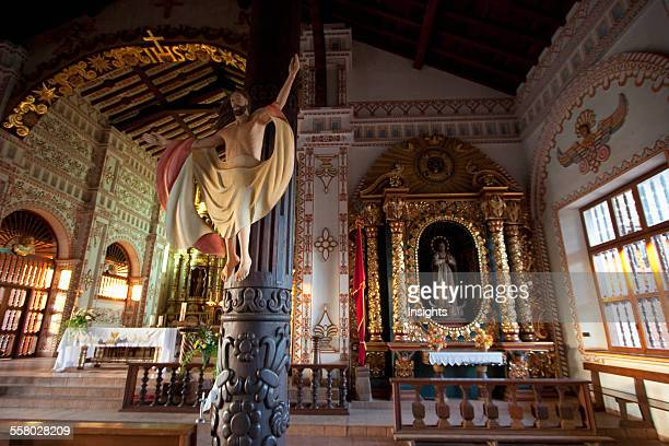 Carved Wooden Image Of Christ The Redeemer In The MestizoBaroque Style On A Column Of The Jesuit Mission Of San Ignacio De Velasco Santa Cruz...
