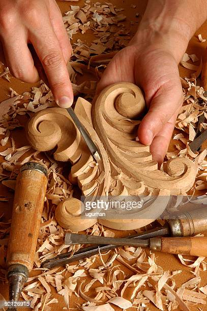 carver - carving craft product stock photos and pictures