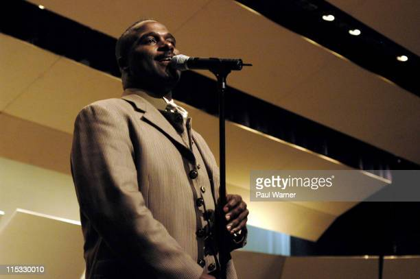 Carvin Winans performs at the GRAMMY Gold Signature School Presentation Concert at Pioneer High School in Ann ArborMichigan The school was chosen as...
