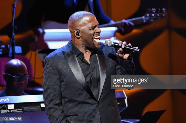 Carvin Winans performs onstage at the 2019 Super Bowl Gospel Celebration at Atlanta Symphony Hall on January 31 2019 in Atlanta Georgia