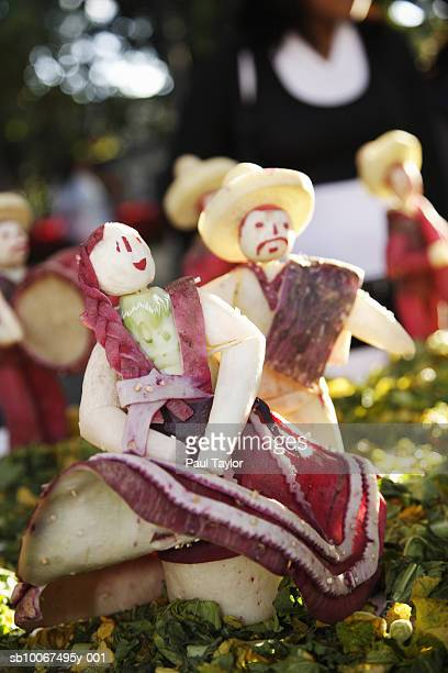 Carving made from large radish, close-up