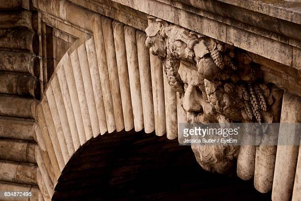 Carving On Arch Of Historic Building