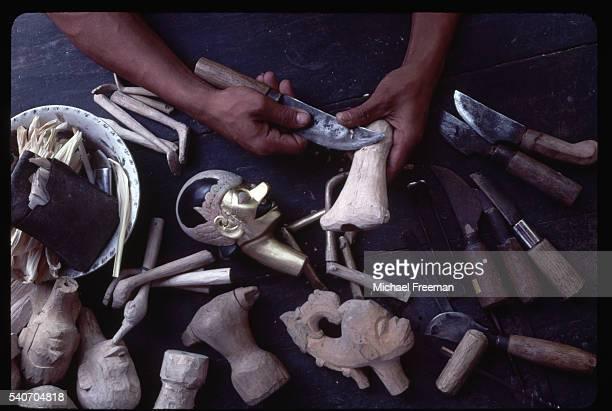 Carving Wayang Golek Puppet