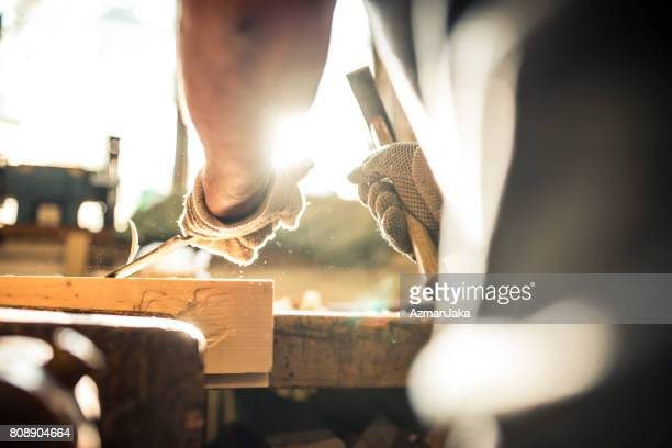 carving wood - craftsman stock photos and pictures