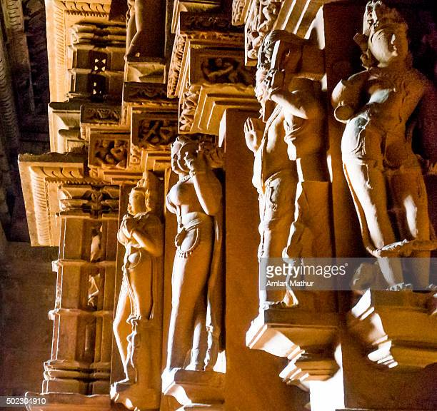 Carvings of hindu gods and goddesses