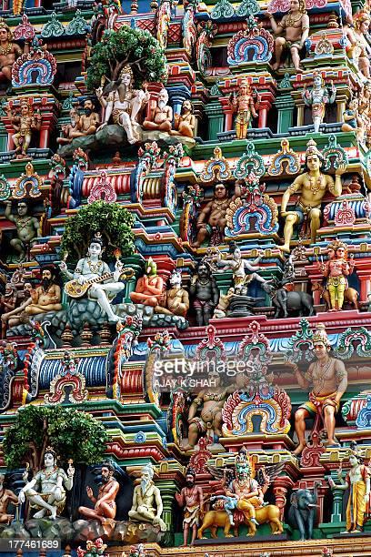 carvings on gopuram