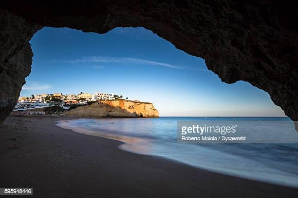 Carvoeiro at sunset Algarve Portugal